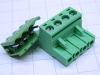Connettore completo 4 poli circuito stampato passo mm. 5