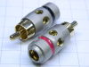 Pair connector RCA gold plated