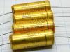 100MF 63Vcc condensatore assiale ROE Gold 31,5x12 vintage  (n.4 pezzi)