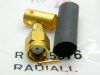 Coaxial connector SMA male,  RADIALL 125076, cable  RG142, RG400, RG223