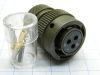 Connector plug female 3pin, KPSE-12-3S-DN, CANNON-G ,connettore 3 poli