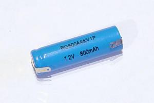 Batteria ricaricabile stilo NiCd AA 1,2V 800mA