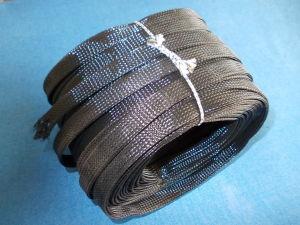 Guaina a treccia espandibile poliestere  nera diam.mm. 20 ( bobina m.50)
