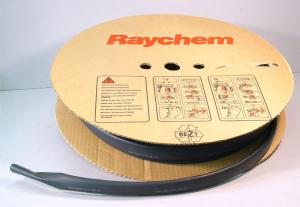 "Raychem Viton-E thermofit  1""-1/2  38mm.  black    (reel m.15)"