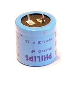 2200uF 63V Condensatore elettrolitico Philips