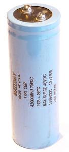 43000uF 25V Condensatore elettrolitico Mallory