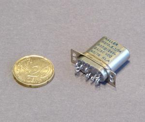 Relè 24Vcc 2scambi 2A contatti placcati oro schermato anti scintillio