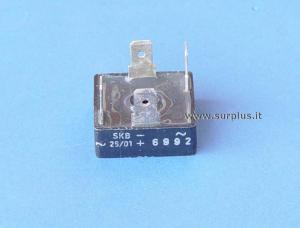 SKB25/01  Ponte monofase 200V 25A