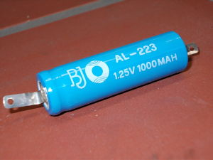 Rechargeable Ni/Cd battery AA