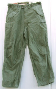 Calzoni shell field trousers M1951