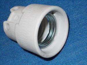 Portalampada in ceramica attacco Edison E27