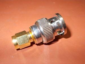 Coaxial adaptor BNC-M/SMA-M