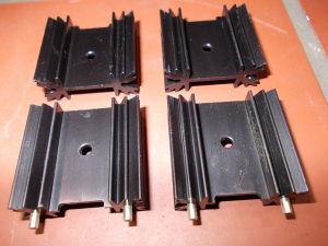 Lotto 4 dissipatori alluminio 35x33x12,5