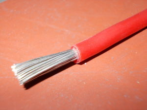Silicon wire AWG10 red