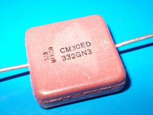 3.300pf 300Vdc Condensatore Mica/ Argento