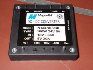 DC/DC converter 24Vdc/5Vdc 20A