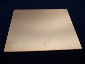 Double-side PCB fiberglass  cm. 17x21,5 , mm.1,58