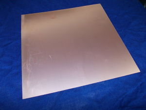 Vetronite ramata doppia faccia cm. 24,5x24,5  spessore mm.0,4
