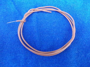 Solid core copper silver plated wire AWG24 , silicon insulated (m.10)