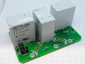 Relay ZETTLER  AZSR250-2AE-12D, coil12Vdc, 2 contacts 50A 250Vac N.O. (n.3pcs. on pcb)