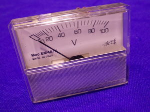 Voltmetro 100Vac/cc 58x48