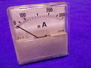 Amperometro 300mA ac/cc 48x48
