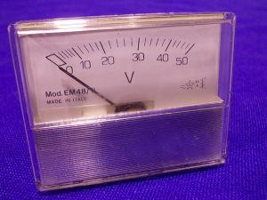 Voltmetro 50Vac/cc 58x48