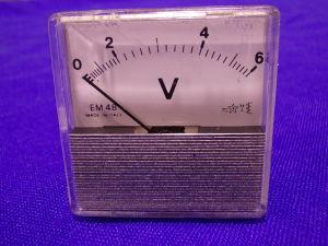 6Vac voltmeter 48x48