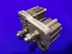 Condensatore variabile doppio 2x120pF