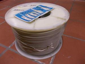 Bobina da m.500 filo unipolare AWG22 rame stagnato isolamento PVC bianco