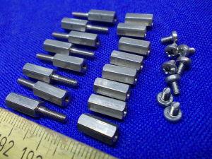 Spacer hex M2,5x10 + M2,5x12 (16pcs.)