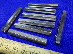 Spacer hex brass 4x50 (8pcs.)