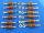 Torretta isolata in resina 18x6, codolo M2,5x6 complete di dadi (n.12 pezzi)