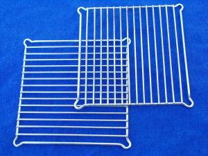 Coppia griglia di protezione per ventole mm. 120x120 , metallo cromato