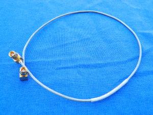 Cavetto semirigido UT086 intestato SMC-M 90°/SMC-M 90° 40cm.