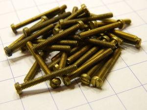 """Vite 2-64UNF x 3/4"""" ottone testa cilindrica (30 pezzi)"""