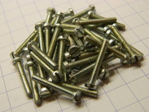 "Nickel steel plated Screw 1/8"" Whitworth x 3/4 (50pcs.)"