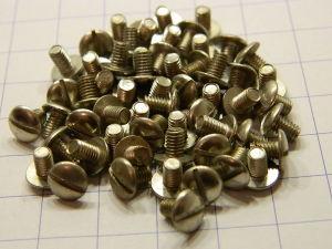 "Vite 5-44UNF x 3/16"" acciaio nickelato testa bombata (50 pezzi)"