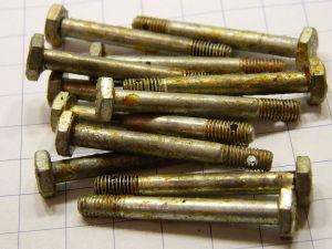 """Vite 3/16"""" Withworth x 1""""5/8 acciaio cadmiato testa esagonale (12 pezzi)"""