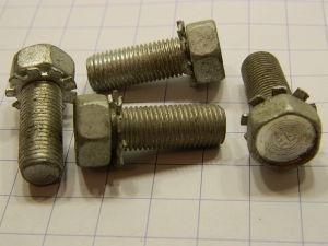 """Vite 3/8""""UNF x 1"""" acciaio cadmiato testa esagonale  (4 pezzi)"""