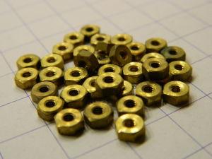 Brass nut 2-64UNF (30pcs.)