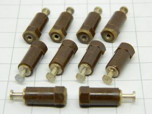 Torretta isolata in resina 20x6, foro fissaggio M2,5  (n.10pezzi)