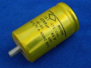 4700uF 63V condensatore elettrolitico Micro