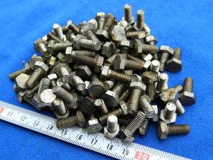 Vite M6x15 testa esagonale acciaio nickelato (100pezzi)