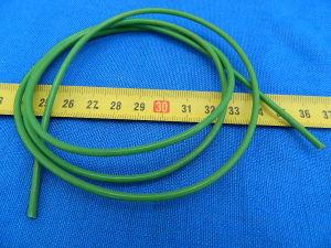 Tubetto guaina al silicone e fibra verde mm. 1,5