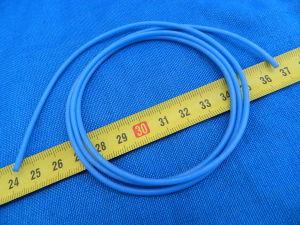 Tubetto guaina al silicone blu mm. 1,5