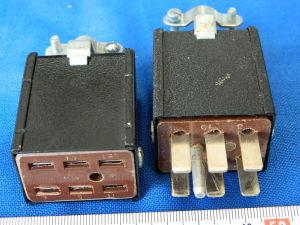 Connettore completo 6pin volante contatti lamellari 30A