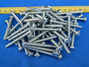 Screw M5x50 Phillips head steel zinc plated (50pcs.)