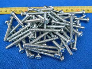 Vite M5x50 testa cilindrica croce acciaio zincato (50 pezzi)