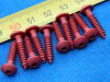 Vite autofilettante 4x20 Ergal lega leggera rossa (10 pezzi)
